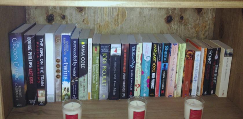 TBR bookshelf Aug 2014