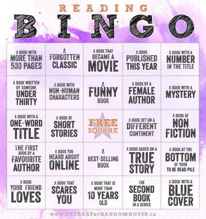Reading Bingo Challenge 2014 (1/6)