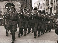 German Army Band in the High street