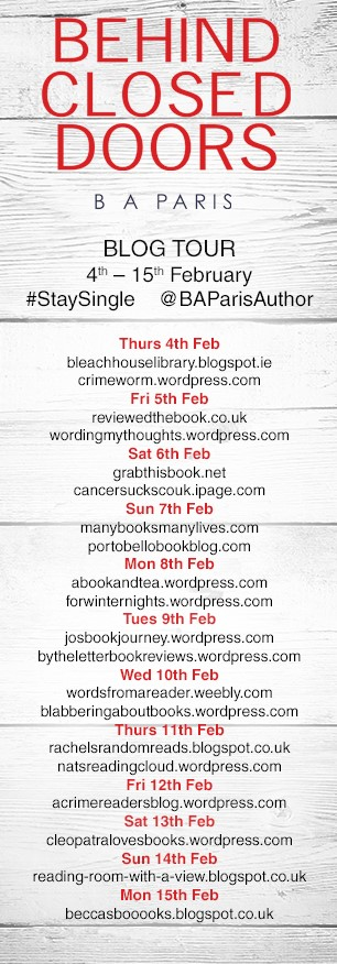 Blog tour banner Behind Closed Doors