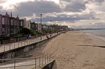 a photo from the Joppa end looking along the prom